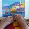 Thérèse et son tableau de Bastia