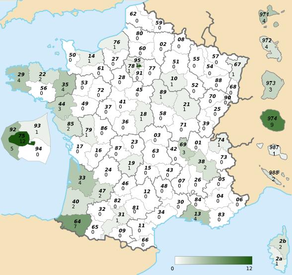 JMT2015 - Défi 3 - Départements - Carte